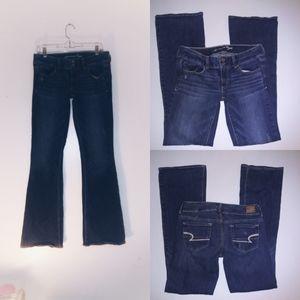 2/$15 American Eagle Artist Stretch Cut Jeans 6 8